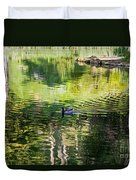 Stow Lake Idyll Duvet Cover