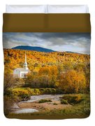 Stowe Church At Sunset Duvet Cover