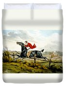 Straight Through The Fence From Qualified Horses And Unqualified Riders Duvet Cover