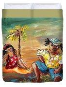 Stranded In Tahiti Duvet Cover