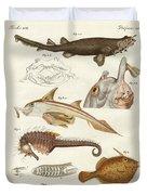 Strange Cartilageous Fish Duvet Cover