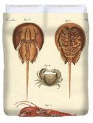 Strange Crabs Duvet Cover