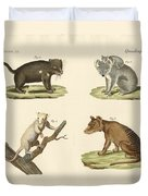 Strange Marsupials Duvet Cover