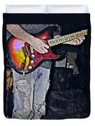 Strat Man  Duvet Cover by Chris Berry