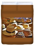 Straw Hats Duvet Cover