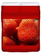 Strawberries Background Duvet Cover