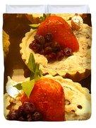 Strawberry Blueberry Tarts Duvet Cover