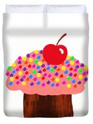 Strawberry Cupcake Duvet Cover by Andee Design