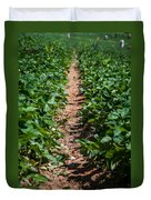 Strawberry Farm Field Duvet Cover