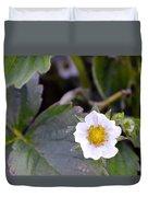 Strawberry Flower Duvet Cover