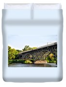 Strawberry Mansion Bridge And The Schuylkill River Duvet Cover