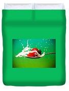 Strawberry Milk Duvet Cover