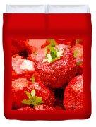 Strawberry Mosaic Duvet Cover