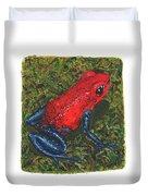 Strawberry Poison Dart Frog Duvet Cover