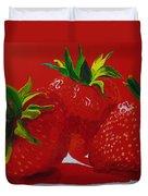 Strawberry Red Duvet Cover