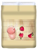 Strawberry Smoothie Duvet Cover