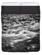 Stream Fall Colors Great Smoky Mountains Painted Bw  Duvet Cover