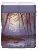 Stream In Mist Duvet Cover