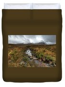 Stream On Rannoch Moor  Duvet Cover