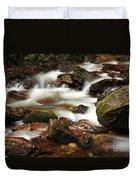 Stream Running Over Rocks Duvet Cover