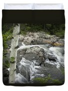 Stream With Waterfall In Vermont Duvet Cover