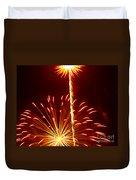 Streaming Fireworks Duvet Cover