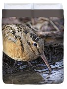 Streamside Woodcock Duvet Cover