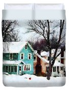 Street After Snow Duvet Cover