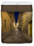 Street Alley By Night Duvet Cover
