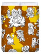 Street Art Doodle Creatures Urban Art Duvet Cover by Frank Ramspott