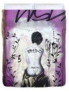 Street Art Valparaiso Chile 8 Duvet Cover