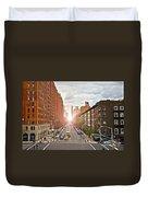 Street As Seen From The High Line Park Duvet Cover