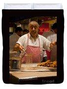 Street Cook - Hot Job Duvet Cover
