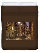Street Corner Budapest Duvet Cover