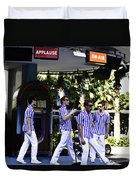 Street Entertainers In The Hollywood Section Duvet Cover
