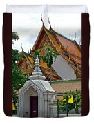 Street Entry To Wat Po In Bangkok-thailand Duvet Cover