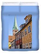 Street In Helsingor Denmark Duvet Cover