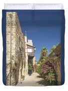 Street In Jaffa Tel Aviv Israel Duvet Cover