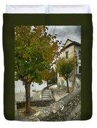 street in old Albaycin in Granada Duvet Cover