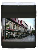 Street In Quebec Duvet Cover