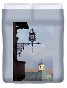 Street Lamp, Assisi Duvet Cover
