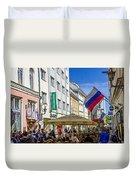 Street Life - Tallin Estonia  Duvet Cover