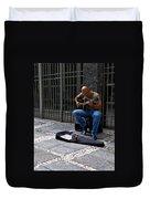 Street Musician - Sao Paulo Duvet Cover