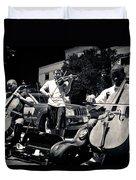 Street Musicians Duvet Cover