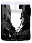 Street Of Florence Duvet Cover