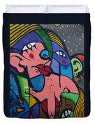 Street Picasso Duvet Cover