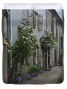 Street Scene Durfort France Duvet Cover