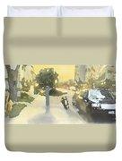 Street Scene Impression Duvet Cover