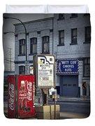 Street Scene With Coke Machine No. 2110 Duvet Cover
