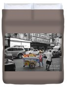 Street Seller Duvet Cover